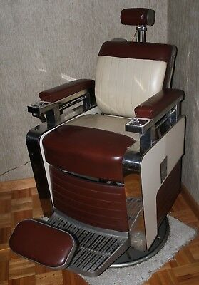 Vintage Antique Koken Barber Chair - late '50's- early 60's from Fiscella Barber