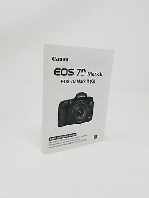 Canon EOS 7D Mark II Genuine Instruction Owners Manual Book Original NEW
