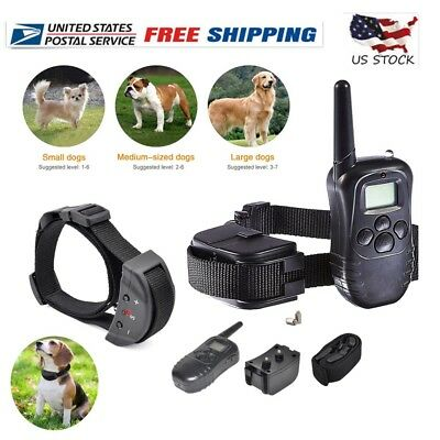 LCD Electric 100LV Levels Shock Vibra Pet Dog Training Remote Control Collar USA