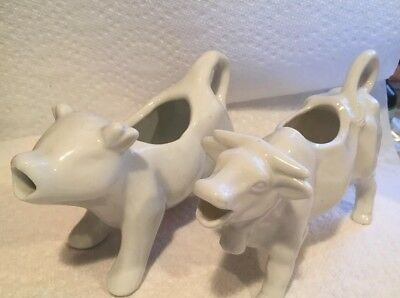 Two  Cow Creamers - No chips! Beautiful!