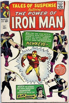 Tales of Suspense #57 G+/VG Sept 1964 - Origin & Intro Hawkeye