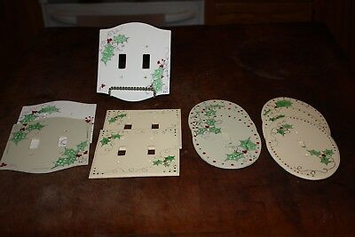 Hand Painted Metal Light Switch Plates - Set Of 6 Single & 5 Double