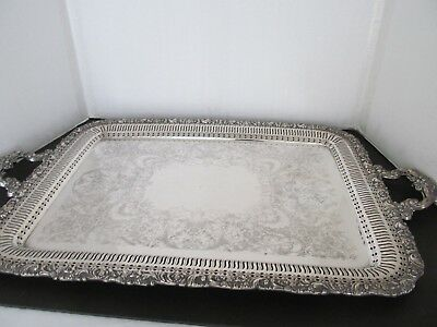 Gorgeous Antique Large Silverplate Tray, By Wilcox, International Silver Co.