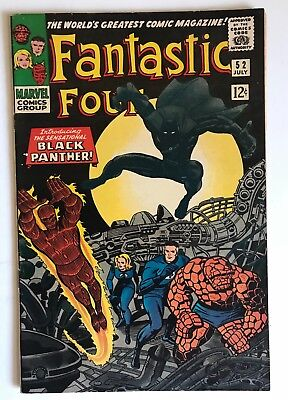 FANTASTIC FOUR #52 Vol 1 1st Appearance of the BLACK PANTHER Super High Grade