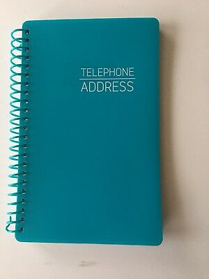 """Address /Telephone Book w/Tabbed Pages- spiral - 5"""" X 8"""" BLUE"""
