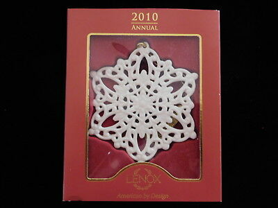 LENOX 2010 Snow Fantasies Snowflake Ornament NIP NEW NIB Christmas Annual
