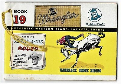 """1957 Wrangler Blue Bell"""" Great Moments In Rodeo"""" #19 Jeans Promotional ComicBook"""