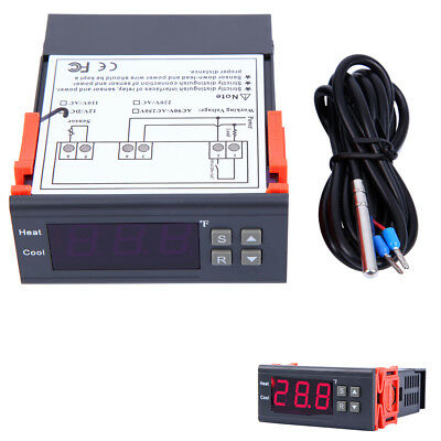 12V Fahrenheit NTC Temperature Controller Thermostat with LCD Display
