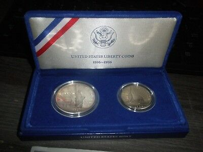 1986 US Mint Statue of Liberty Proof Commemorative 2-Coin Set +Philadelphia 1969
