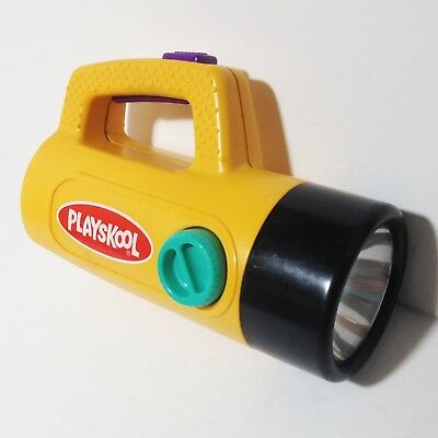 Vintage Flashlight Playskool 1986 Color Change Red Green Children's Black Yellow
