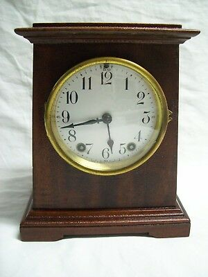 Antique 1920's Seth Thomas 8 Day Mantle Chime Clock Rare Tower Shape with Key