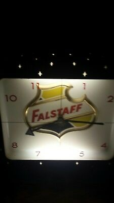 1940's Falstaff beer light up clock