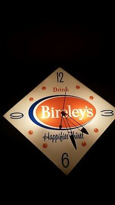 1950's Bireley's Orange  light up clock