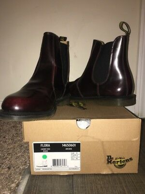 DR. MARTENS WOMEN S Flora Ankle Boot Cherry Red Arcadia 8 UK 10 W US ... 6e5e776c98
