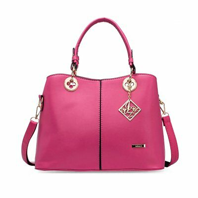 Women's Handbag Ladies Designer PU Leather Shoulder Bag and Purses Tote Bag Rose