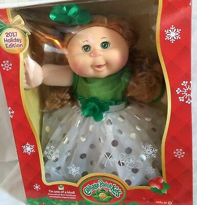 2017 Holiday Edition Cabbage Patch Doll Becky Aubrey Blonde Green Eyes