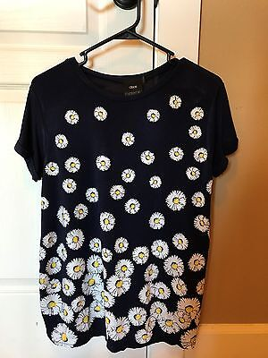 ASOS Maternity Exclusive T-Shirt With Daisy Print - Navy / US 2