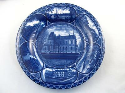 Rowland & Marsellus Sherbrooke,quebec Scenes Flow Blue Plate Antique