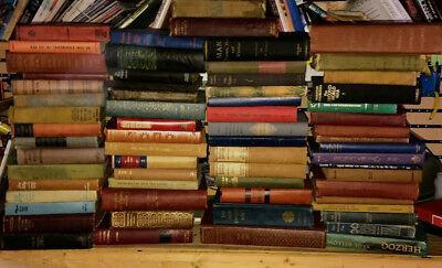 Lot of 10 Vintage Books Antique Collection Set Unsorted mix all hardcover