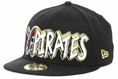 682805f561 Pittsburgh Pirates Men s New Era 59FIFTY MLB Baseball The Ice Hat Cap -  Black