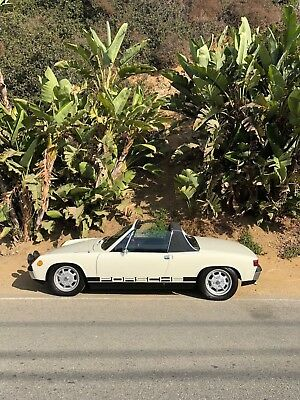 1973 Porsche 914 Light Ivory/Black