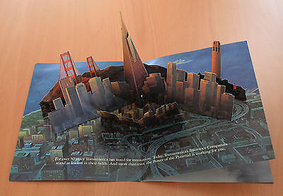 Transamerica San Francisco Fold-Out 3D Pop-Up Magazine Ad