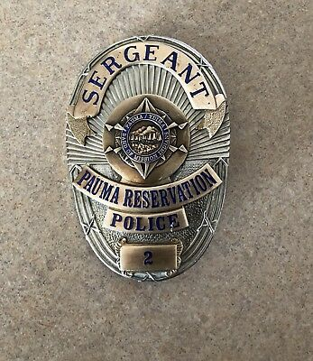 obsolete Pauma Tribal Police Badge