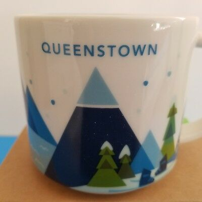 NWT Starbucks Queenstown New Zealand You Are Here YAH Mug Cup 14oz Original