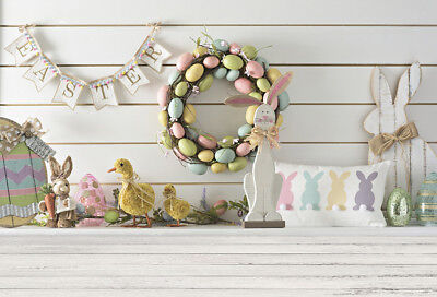 Photo Backdrops Vinyl 5x3FT Easter Egg Wreath Photography Background Studio Prop