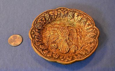 Vintage Brass Ashtray With Byzantine Double Headed Eagle