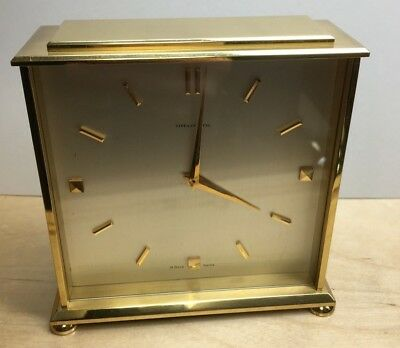 Tiffany & Co. Concord Brass DUAL SIDED Double-Dialed 8 Eight-Day Desk Clock #220