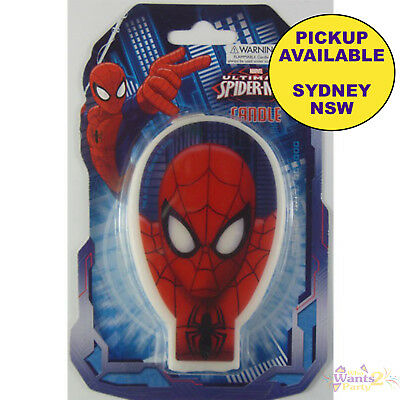 Spiderman Party Supplies Birthday Candle Superhero Cake Toppers Decorations