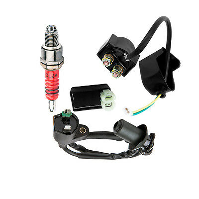 Fits Yerf Spidebox Go Kart GX150 Cdi Ignition Coil Spark Plug Solenoid Parts PGS