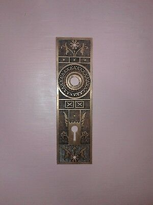 Vintage Eastlake ?? ESCUTCHEONS Ornate Door Plate Key Hole Door Knob opening