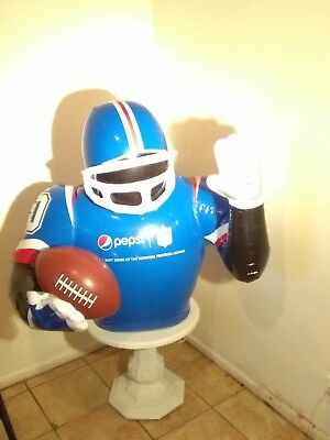 "Pepsi / Nfl Inflatable Football Player 36""h 34""w Superbowl Party Decoration Good"