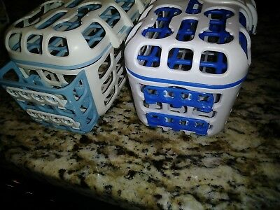 munchkin deluxe lot of 2 dishwasher basket cleaning bottle parts