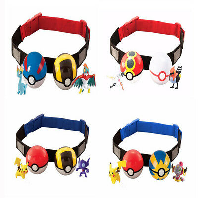 Pokemon Clip n Carry Kids Poke Ball Belt Adjustable Gift Pretend Play Game