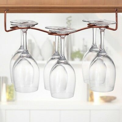 Restaurant Bar Shelf Stand Wine Glass Cup Holder Hanging Champagne Stemware Rack
