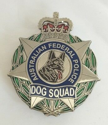 AFP australian federal police DOG SQUAD  metal badge