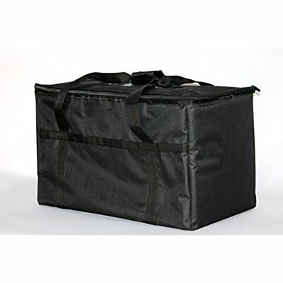Storage & Organization Insulated Nylon Food Delivery Bag 23in 13in 15in, Black