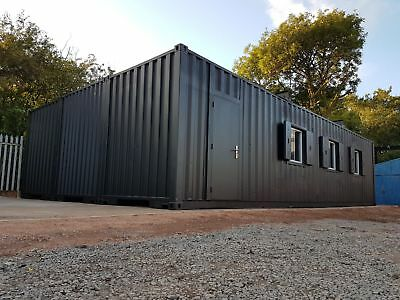 40x24 Shipping Containers Conversion - Prepared for Office space
