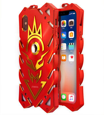 Simon Hybrid Aluminum Metal+TPU Cover Case Shockproof Bumper For iPhone X Shell