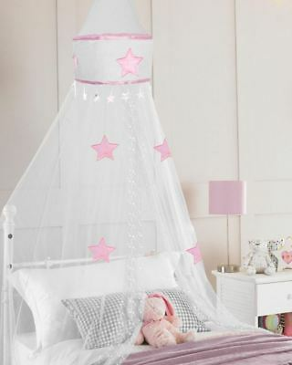 Country Club Star Design Children's Bed Canopy White