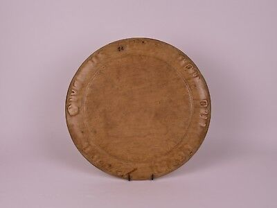 """A Vintage Sycamore Wood Bread Board, Titled """"Give Us This Day Our Daily Bread""""."""