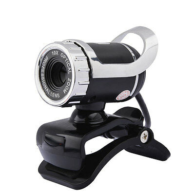 New 360°USB 2.0 1080P HD WebCam Web Video Camera Clip-on MIC for PC Skype MSN UK