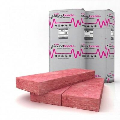 Pink High Density Thermo-Acoustic Insulation Batts