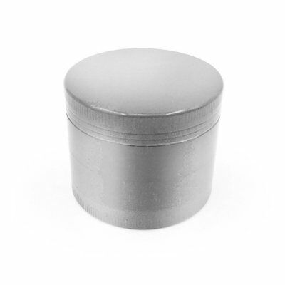 Tobacco Herb Spice Grinder 4 Piece Herbal Alloy  Metal Chromium Crusher Silver