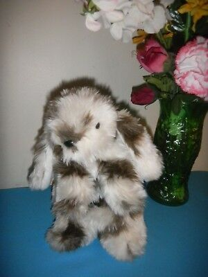 Vintage Country Critters Plush Rabbit  Full Body Hand Puppet Easter Puppet