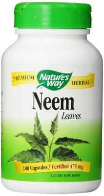 Neem Leaves 475 mg x 100 Capsules Nature's Way - 24HR DISPATCH