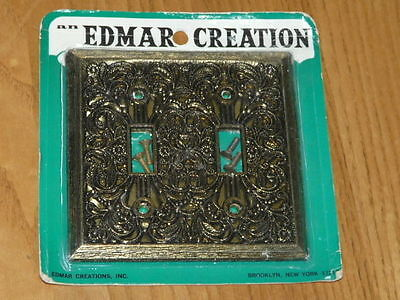 Vintage New Old Stock EDMAR CREATION # 130TTAB Double Switch Plate Cover